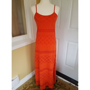 Topshop Orange Maxi Dress